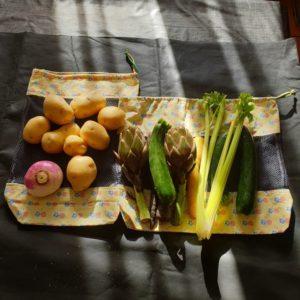 Lot de 2 sacs à légumes