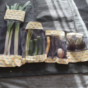 Lot de 4 sac à fruits & légumes